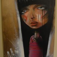 40+x+50cm+Aerosol+and+Acrylic+paints+on+canvas.%0D%0APrivate+collection.