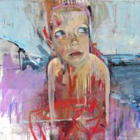 Oil and aerosol paints on canvas 75x75cm  Available from Red Propeller Gallery
